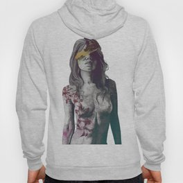 To The Marrow: Autumn (nude faceless girl in topless with lilies) Hoody