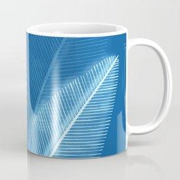Blueprint Leaves Coffee Mug