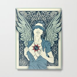 Rubino Angel Woman Wings Metal Print