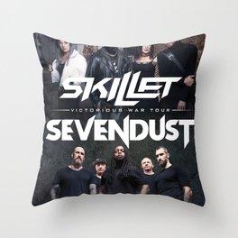 SKILLET SEVENDUST VICTORIOUS TOUR DATES 2019 IKANLELE Throw Pillow