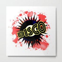 Disco 45 RPM Record Explosion Metal Print