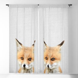 Baby Fox - Colorful Blackout Curtain