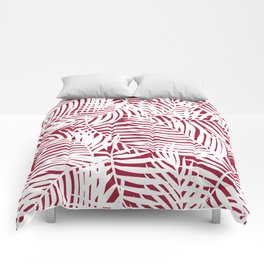 Bright Tropical Island Red Comforters
