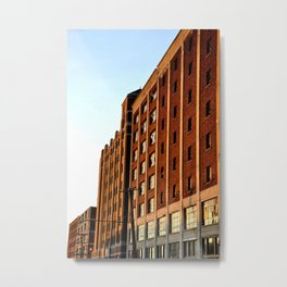 BRICK BUILDING IN THE AFTERNOON SUN - DETROIT Metal Print