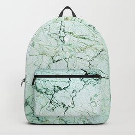 green stone cracked marble Backpack