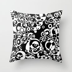 Chaos in black and white Throw Pillow