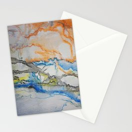 Abstract colors 1 Stationery Cards