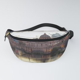 Incredible Sky with Sunset over St Peter, Vatican Rome Fanny Pack