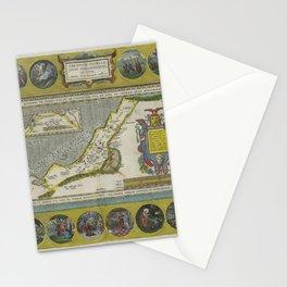 Vintage Map - Ortelius: Theatrum Orbis Terrarum (1606) - Journey of Abraham the Patriarch Stationery Cards