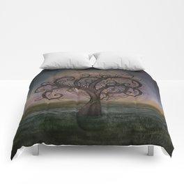 Golden Spiral Tree #3 Comforters