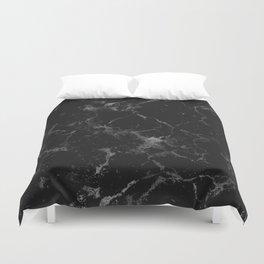 Vintage modern black gray white stylish marble Duvet Cover