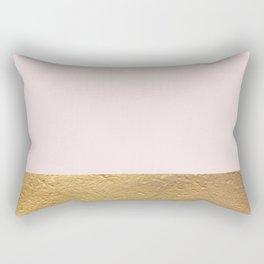 Color Blocked Gold & Rose Rectangular Pillow