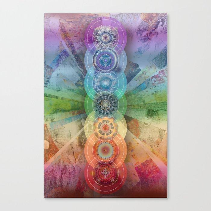 seven chakra meditation and yoga art Leinwanddruck