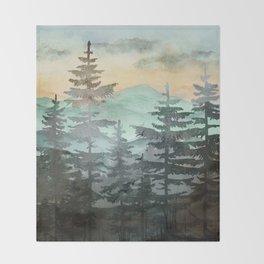 Pine Trees Throw Blanket