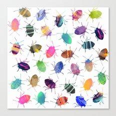 Pretty Bugs Pattern Canvas Print