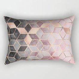 Pink And Grey Gradient Cubes Rechteckiges Kissen