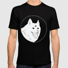 Visions dog MEDIUM Black Mens Fitted Tee