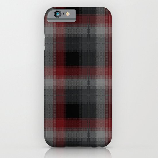 Black, Red, Lumberjack Plaid iPhone & iPod Case