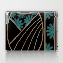ART DECO FLOWERS (abstract) Laptop & iPad Skin