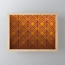 Cascading Squares Pure Copper - Art Deco Pattern Framed Mini Art Print