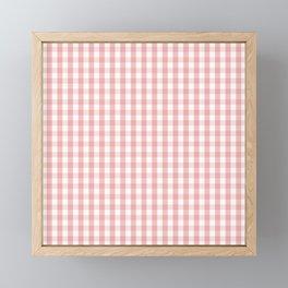 Large Lush Blush Pink and White Gingham Check Framed Mini Art Print