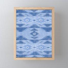southwest weathered denim Framed Mini Art Print