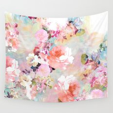 Love of a Flower Wall Tapestry