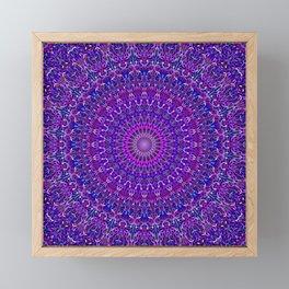 Lace Mandala in Purple and Blue Framed Mini Art Print