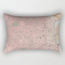 Vintage Map of Omaha Nebraska (1903) Rectangular Pillow