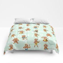 Sloth music pattern Comforters