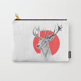 Deer   red Carry-All Pouch