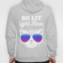 So Lit Right Meow Hilarious Partying Cat design Hoody