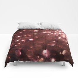 Dark Pink Sparkles Comforters