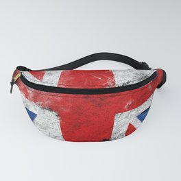 United Kingdom flag Grunge Fanny Pack