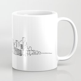 Dallas Skyline Drawing Coffee Mug