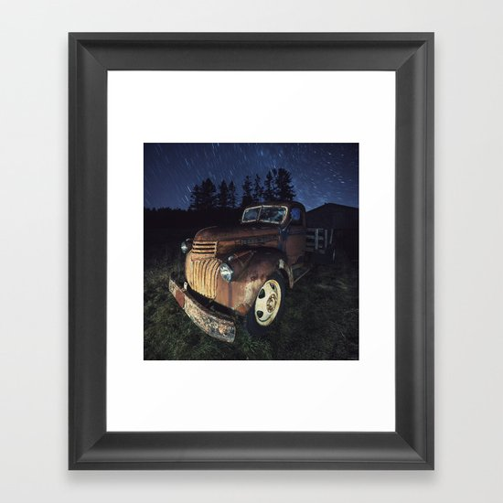 Spinning Overhead Framed Art Print