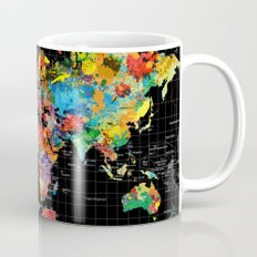 World Map Black - 1 Mug