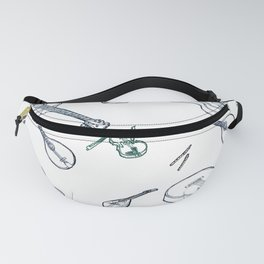 Music Pattern (blue) Fanny Pack