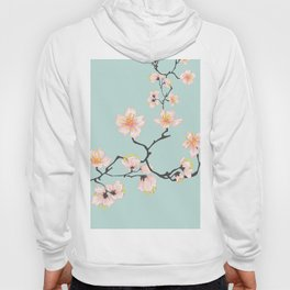 Sakura Cherry Blossoms x Mint Green Hoody