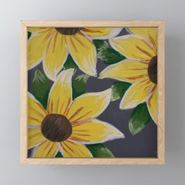 Handmade Sunflower Painting Framed Mini Art Print