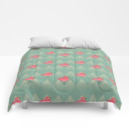 Sugar Flamingo Pattern Comforters