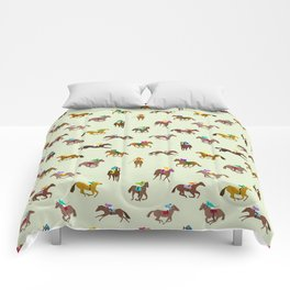 Off to the Horse Races (Mint) Comforters