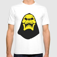 Skeletor. LARGE Mens Fitted Tee White