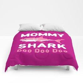 Mommy Shark Comforters