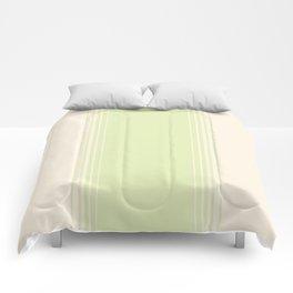 Green Tea & Crème Vertical Gradient Comforters