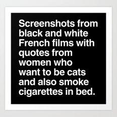 Screenshots and Quotes Art Print