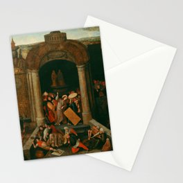 """Pieter Bruegel (also Brueghel or Breughel) the Elder """"Christ Driving the Traders from the Temple"""" Stationery Cards"""