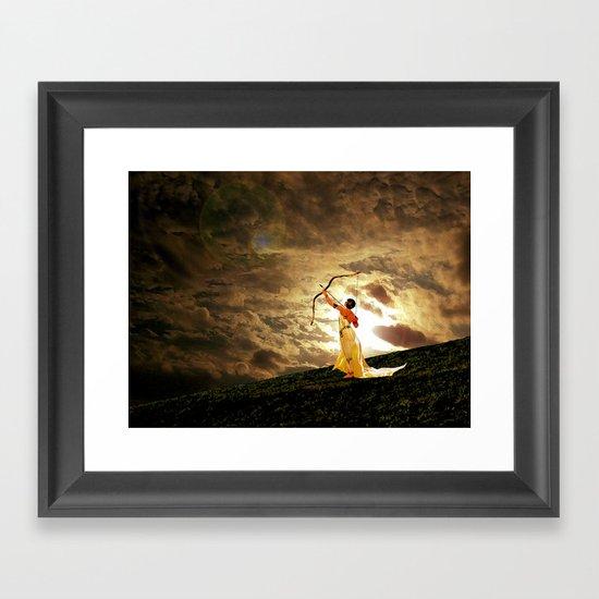 The Far Side of Midnight Framed Art Print