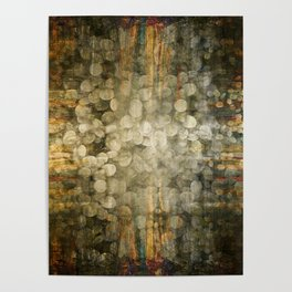 """Abstract golden river pebbles"" Poster"