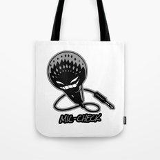Mic-Check Tote Bag